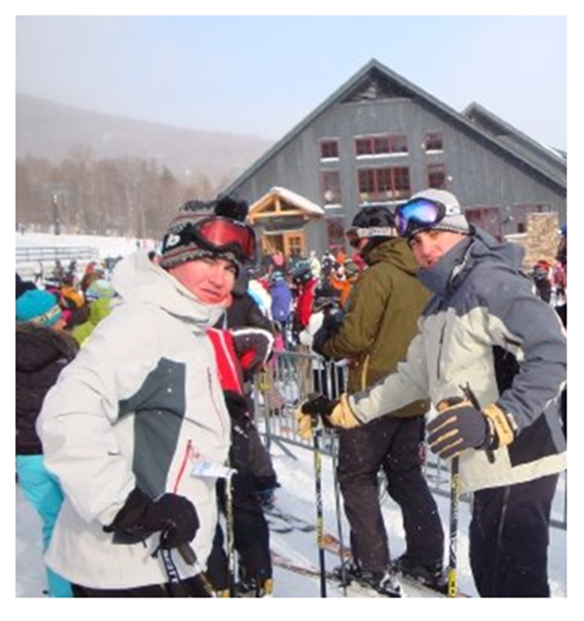 The Fashion Chief (left) and Apres Enthusiast J.D. at the Sugarbush Base this Saturday